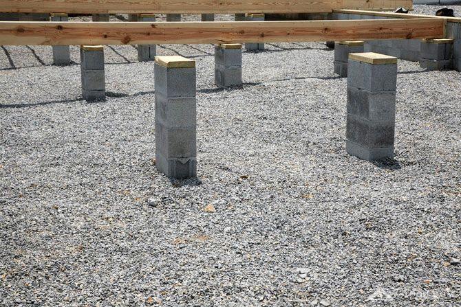Столбчатый фундамент фото 2