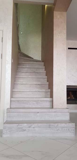Лестница в доме из керамики фото 2