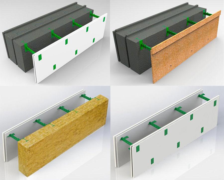 Строительство домов из комбинированных блоков