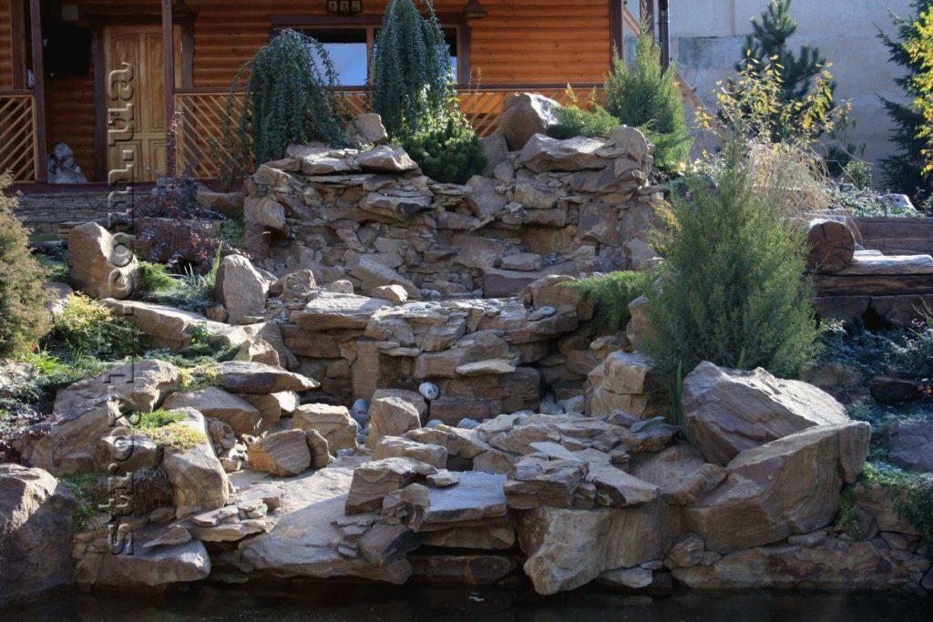 Сооружение каскадных водопадов фото 3