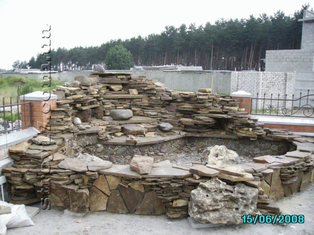 Сооружение водопадов фото 2