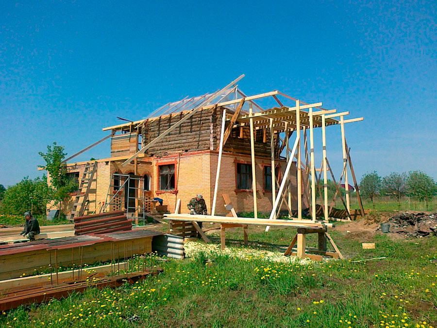 Строительство летнего дома фото
