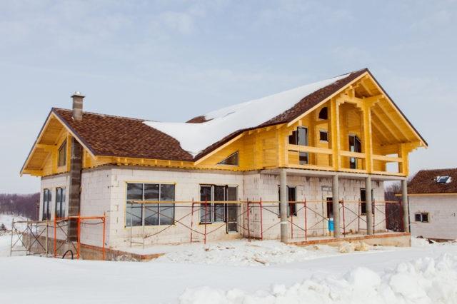 Можно ли строить дом зимой фото