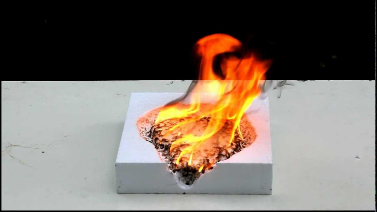 Пенопласт горит фото