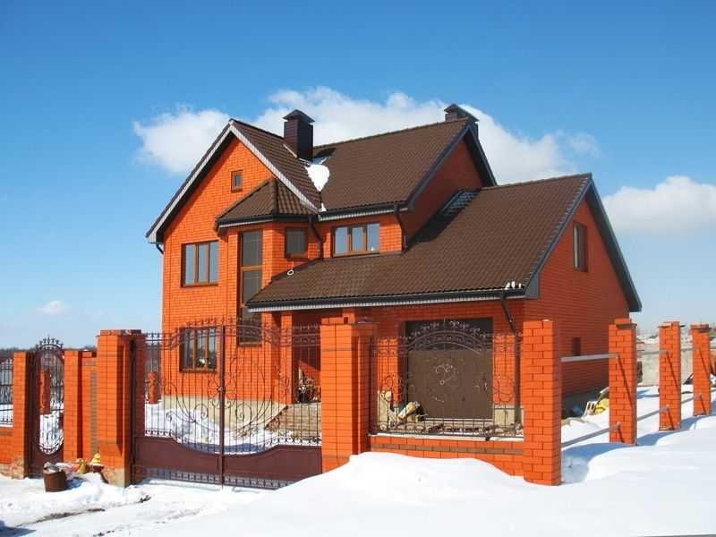 Строительства дома из керамоблоков зимой фото