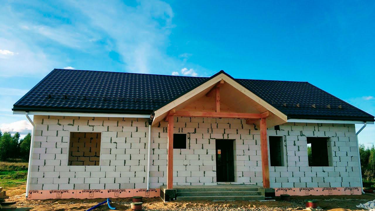 Одноэтажные дома из пенобетона фото