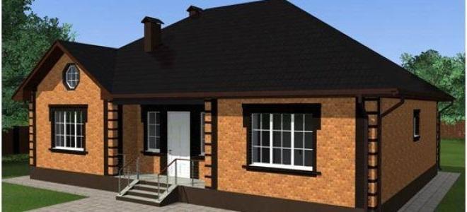 Одноэтажный дом из кирпича фото