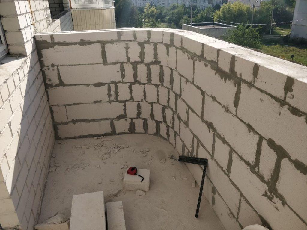 Стены из газобетона фото