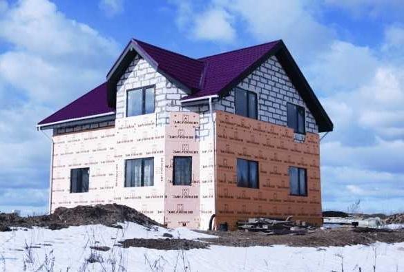 Утеплитель для домов из газобетона фото