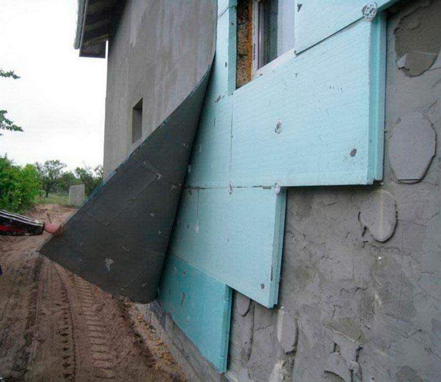 Утепление стен снаружи пенополистиролом фото