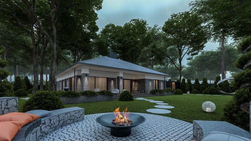 Проект одноэтажного дома New Side